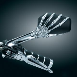 Kuryakyn Skeleton Hand Motorcycle Mirror
